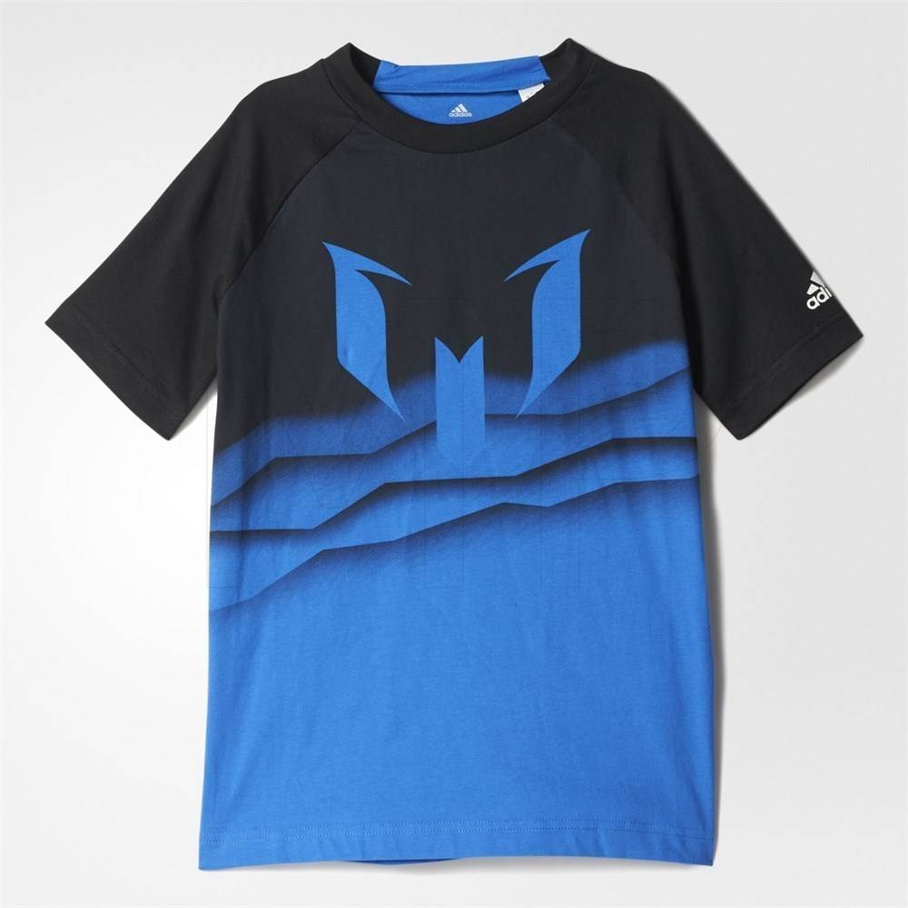 Adidas Kids Boys Messi Graphic T-Shirt, Blue/Black BQ2911