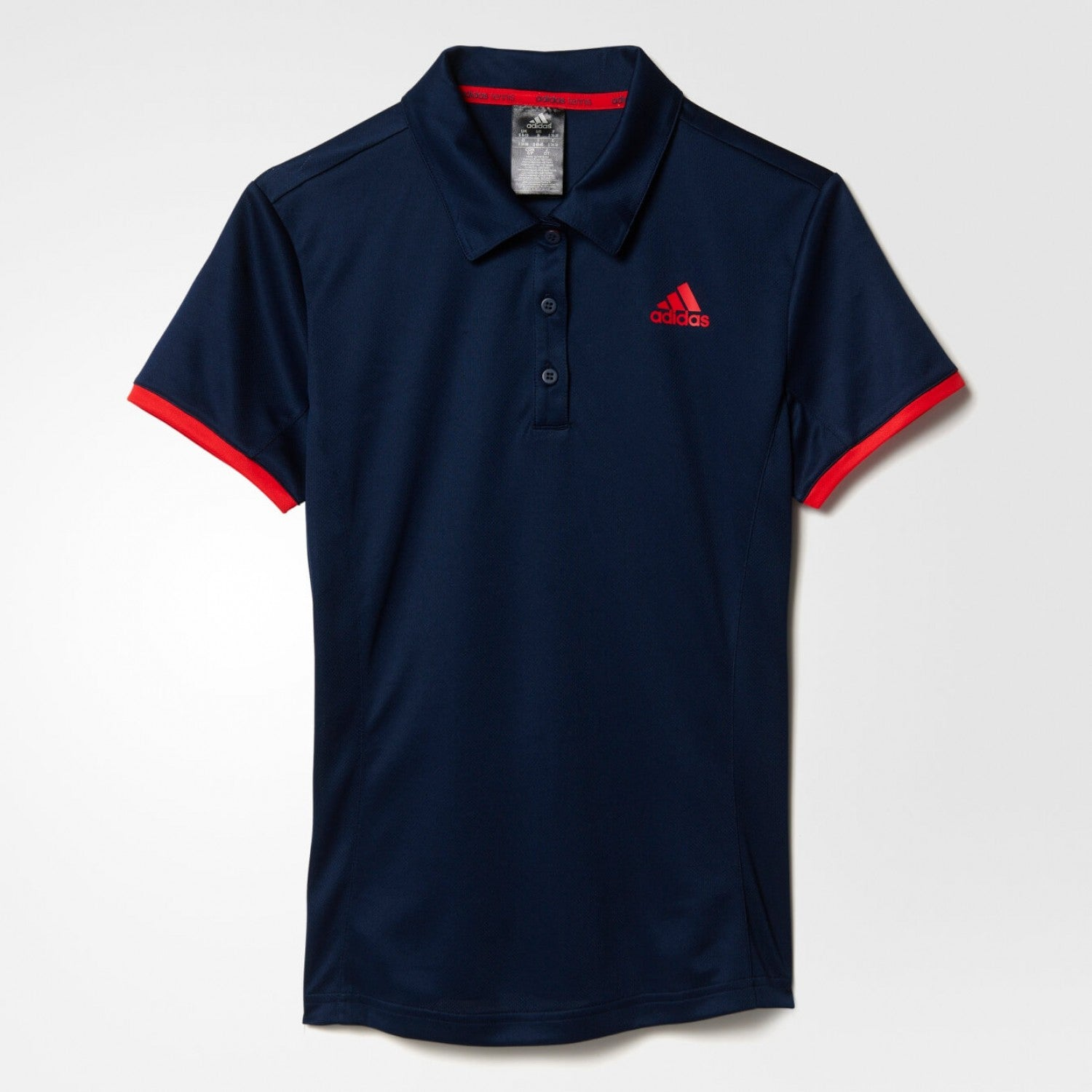 8d5897818 Adidas Women Tennis Court Polo Shirt Navy Red AX8176
