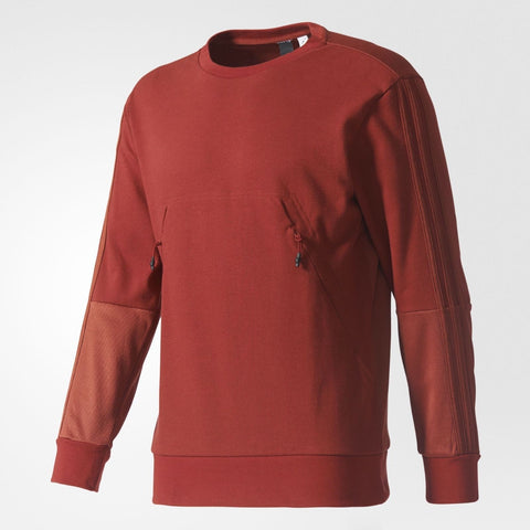 Men adidas Pique Crew Sweatshirt Mystery Red  S97429