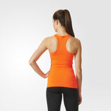 WOMEN TRAINING TECHFIT TANK TOP ORANGE / BLACK