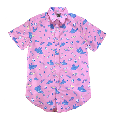 Button-Up: TOSS ME A BONE (Men's Fit)