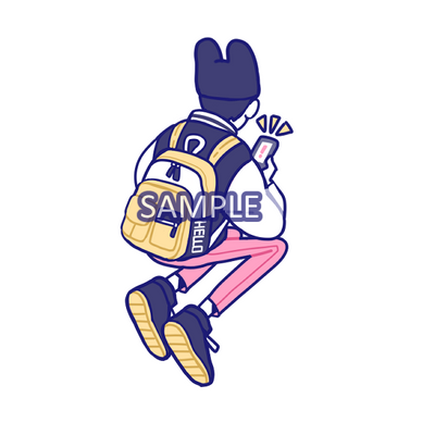 Sticker: HELLO Backpack Boy