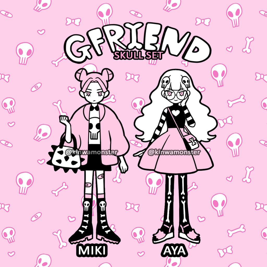 Enamel Pin: SKULL GF Set