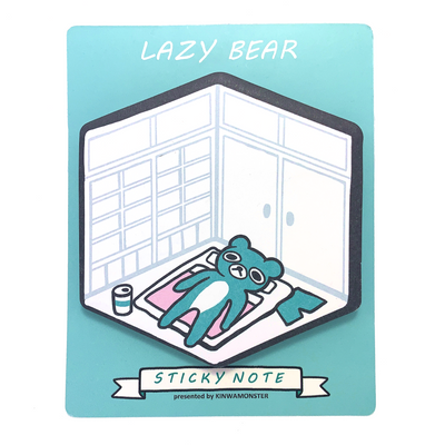 Sticky Note: Lazy Bear