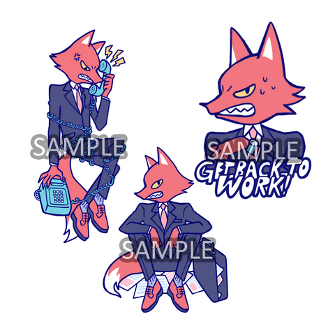 Sticker: Business Fox