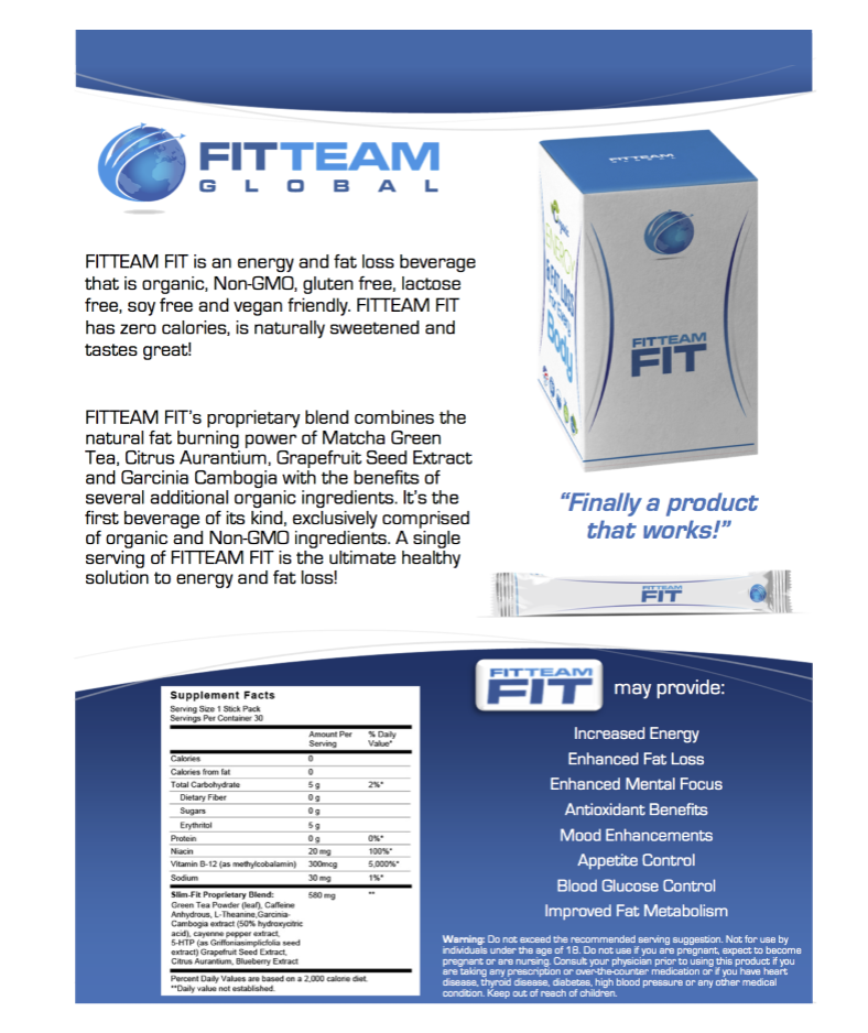 Product Information: FitTeam Fit Product Information
