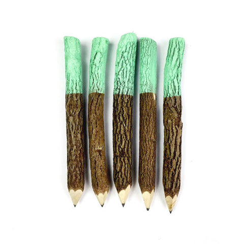 Twig Pencils in Mint Green