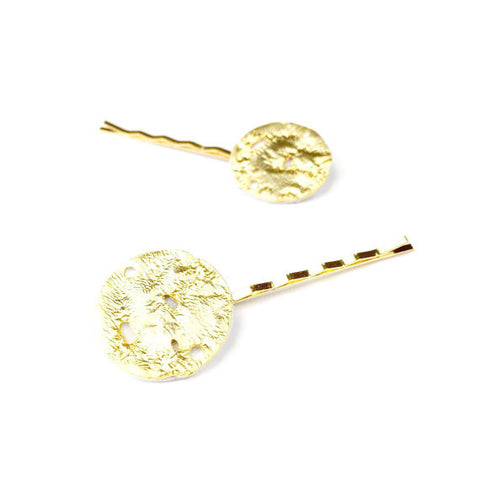 Gold Moon Hair Slides