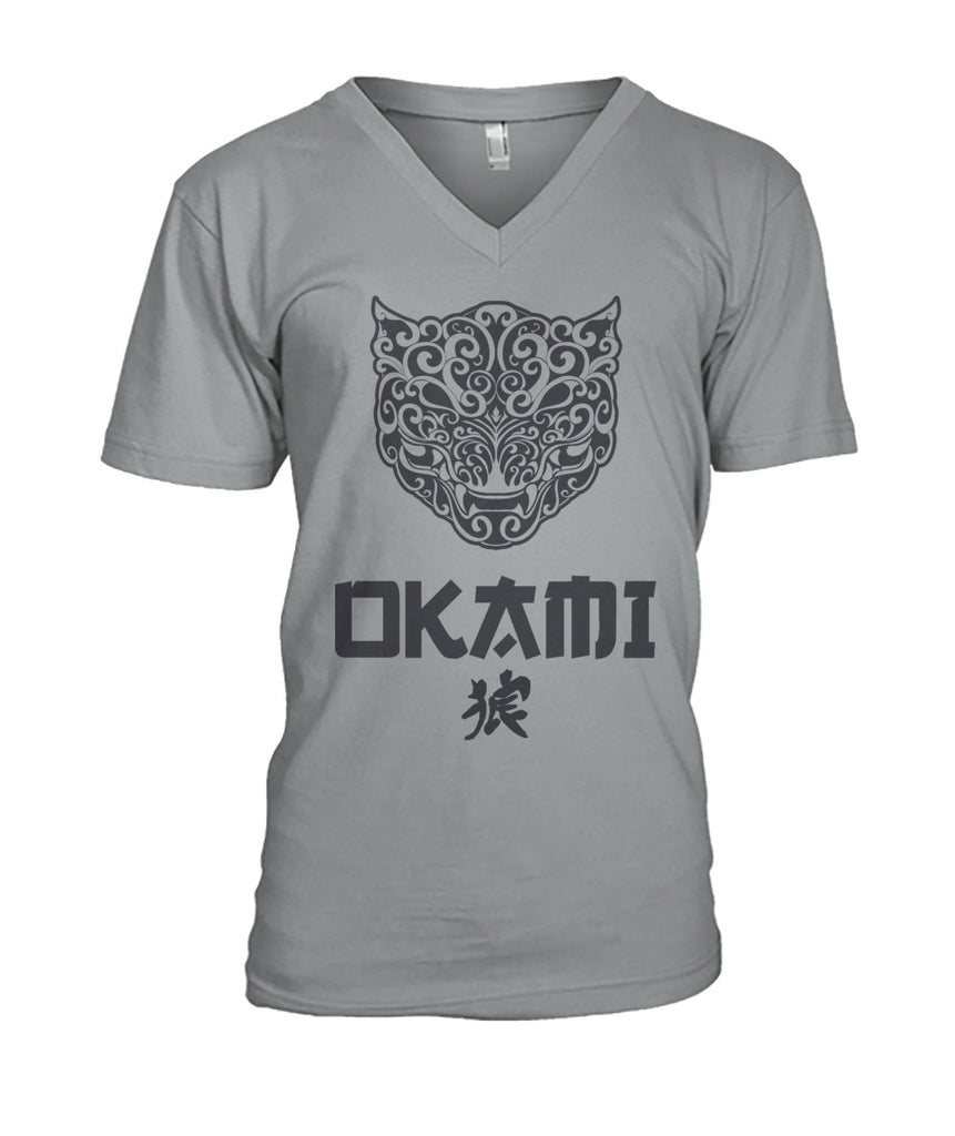 V-Neck OKAMI T-shirt for MEN