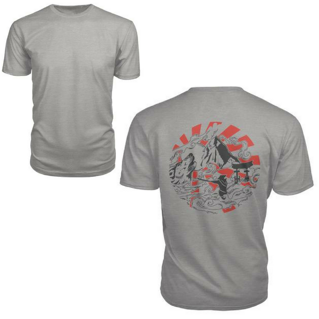 V-Neck Tee with the OKAMI story