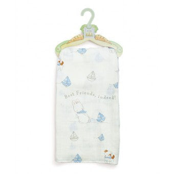 Best Friends Silky Blanket - Blue