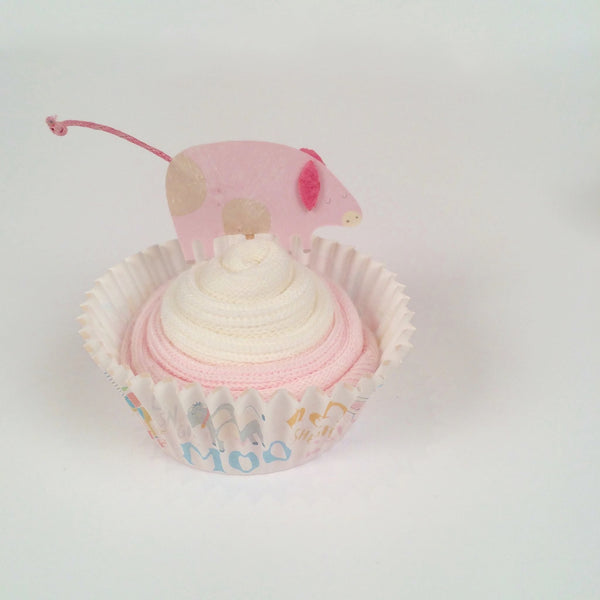 Oh MacDonald Had a Farmyard Baby Shower Sock Cupcakes Introductory Offer