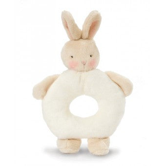 Bunny Ring Rattle - Warm White