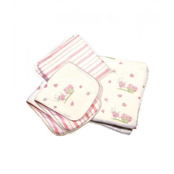 Kitty Cuddle Me Swaddle & Burp Cloth Set
