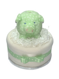 My First Piggy Bank  Gender Neutral Nappy Cake