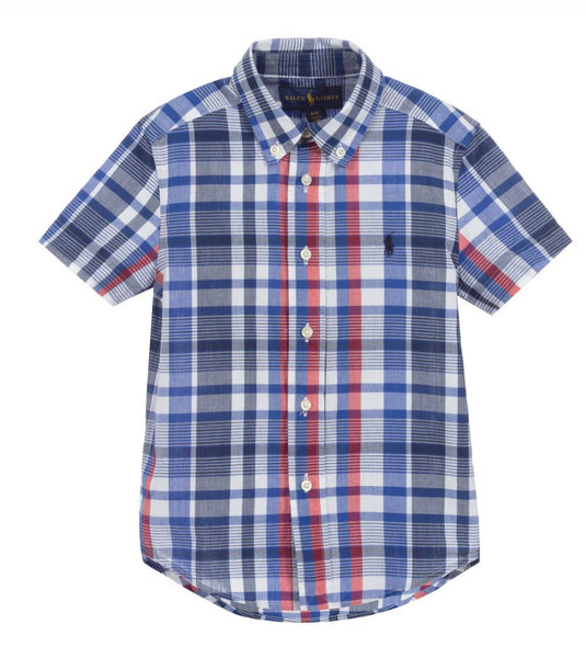 Boys Polo by Ralph Lauren Checked Shirt