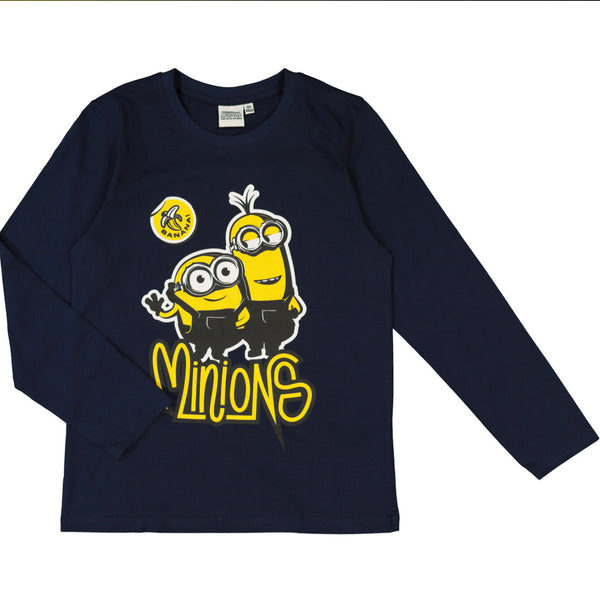Minions Long Sleeved Navy T Shirt