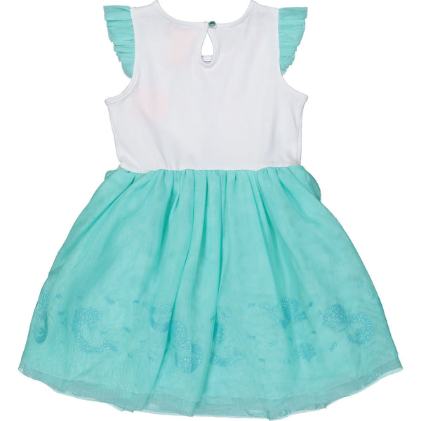 Turquoise and White Mermaid Tutu Dress