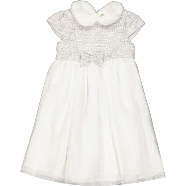 Snow Princess White and Silver Glitter Party Dress Age 2, 3 & 4 Years