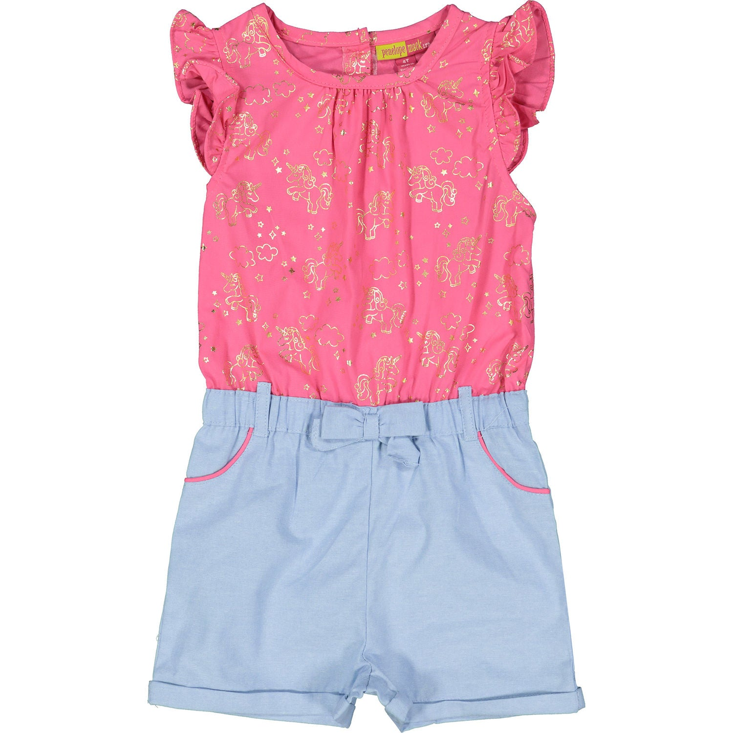 Pink and Blue Unicorn Playsuit