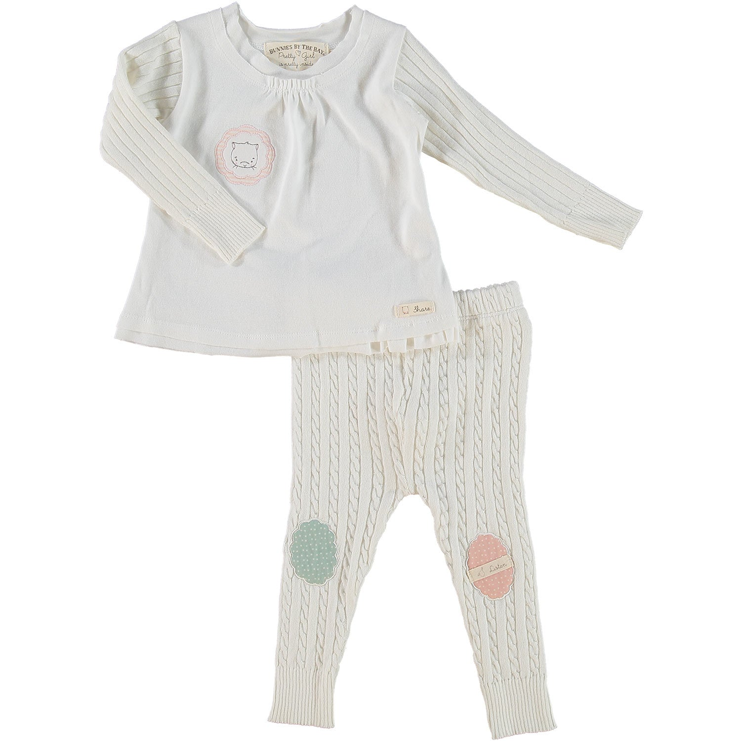 Whipped Cream Top and Leggings Set 9-12 months