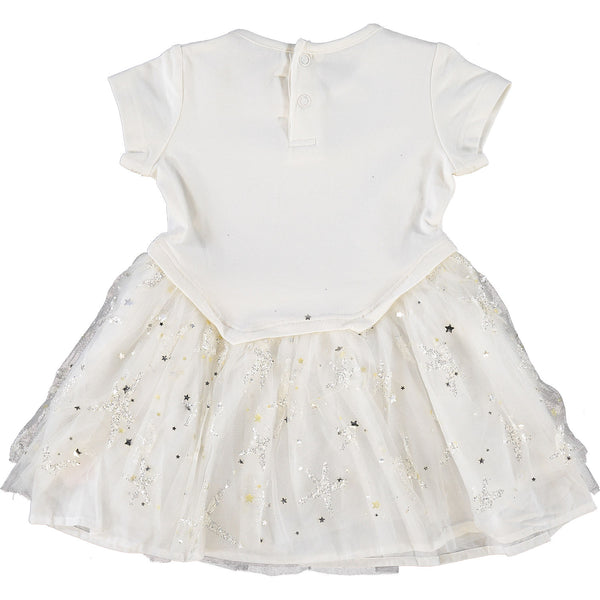 White Star Tulle Dress