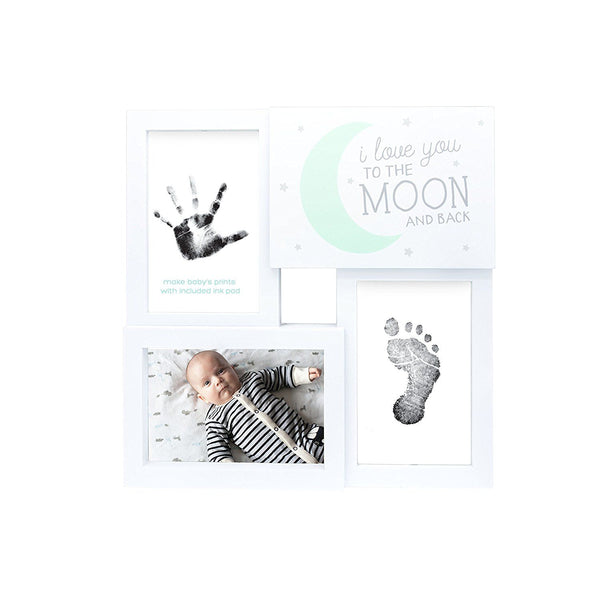 Love You To The Moon and Back Baby Prints Collage and Photo Frame