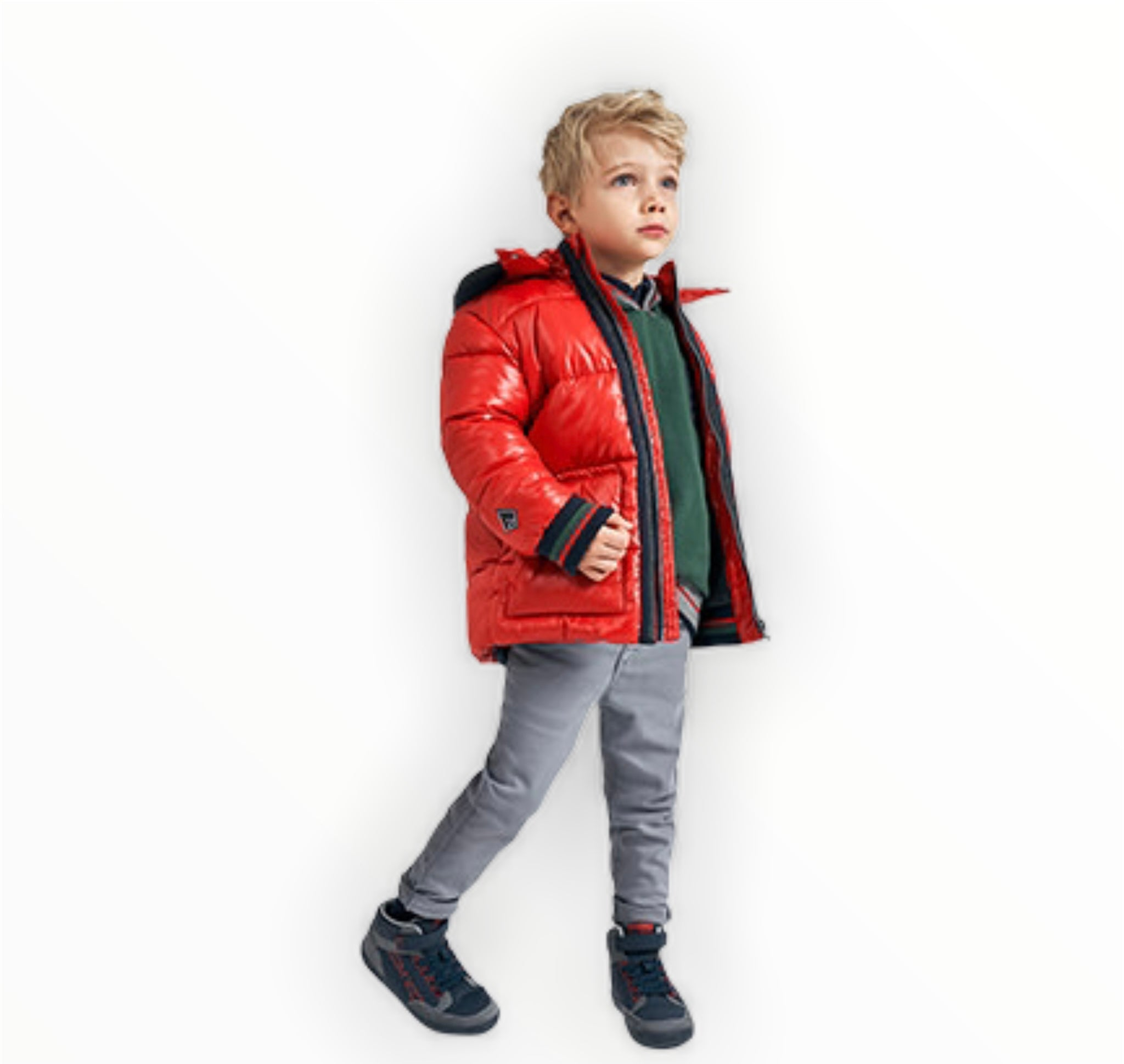 Boys Colour Strip Coat