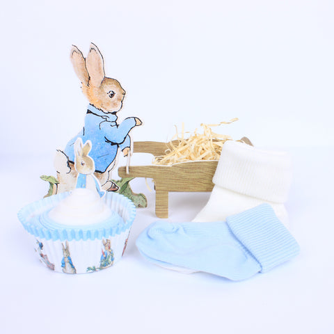 Peter Rabbit Sock Cupcake
