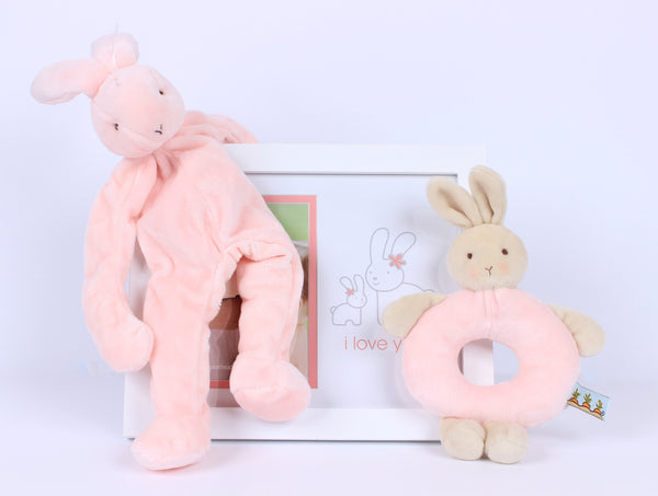 Babyprints Deluxe Bunny Wall Frame (White)