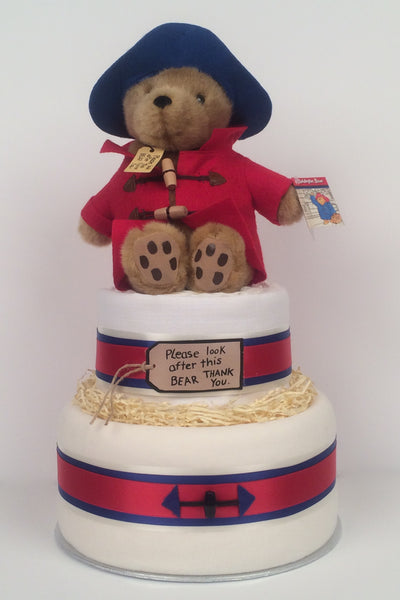 Lux Paddington Bear Nappy Cake