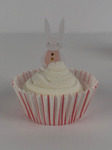Easter Bunny Sock Cupcakes Girls