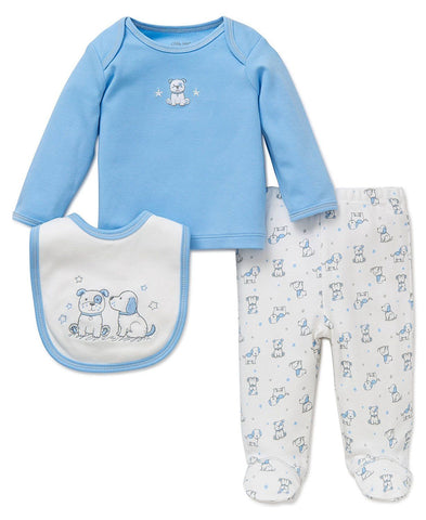 Skipit Style  3-Piece Cute Puppy Bib Set