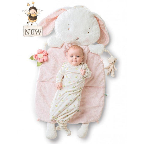 Blossom Bunny 3 in 1 Play Mat, Tummy Time and Pillow