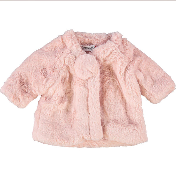 Babaluno Pink  Faux Fur Coat