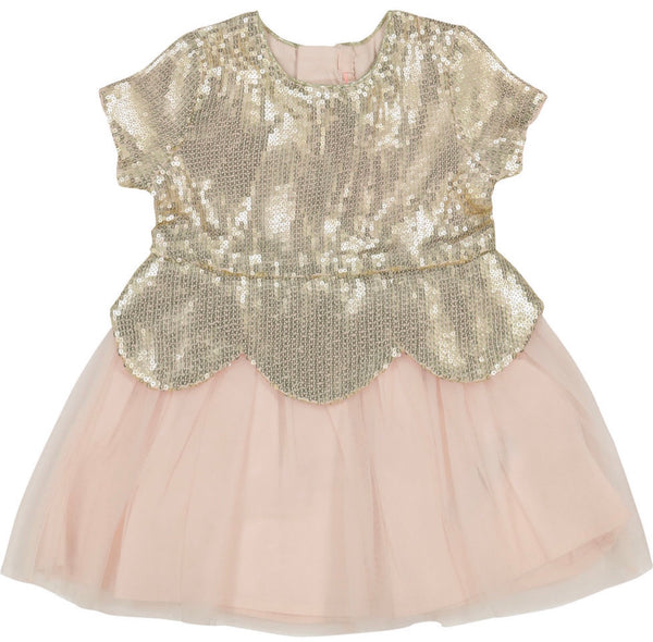 Billyblush Pink and Gold Tulle Dress