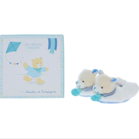 Blue Bear Slippers Doudou