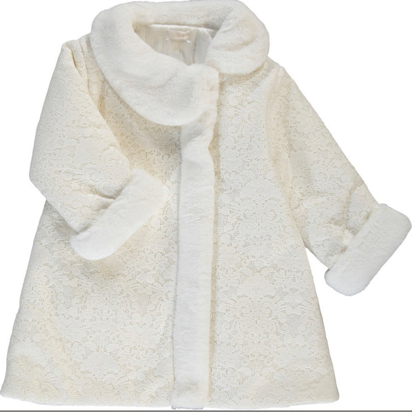 Ninnoah Lace and Fur Lux Winter Coat
