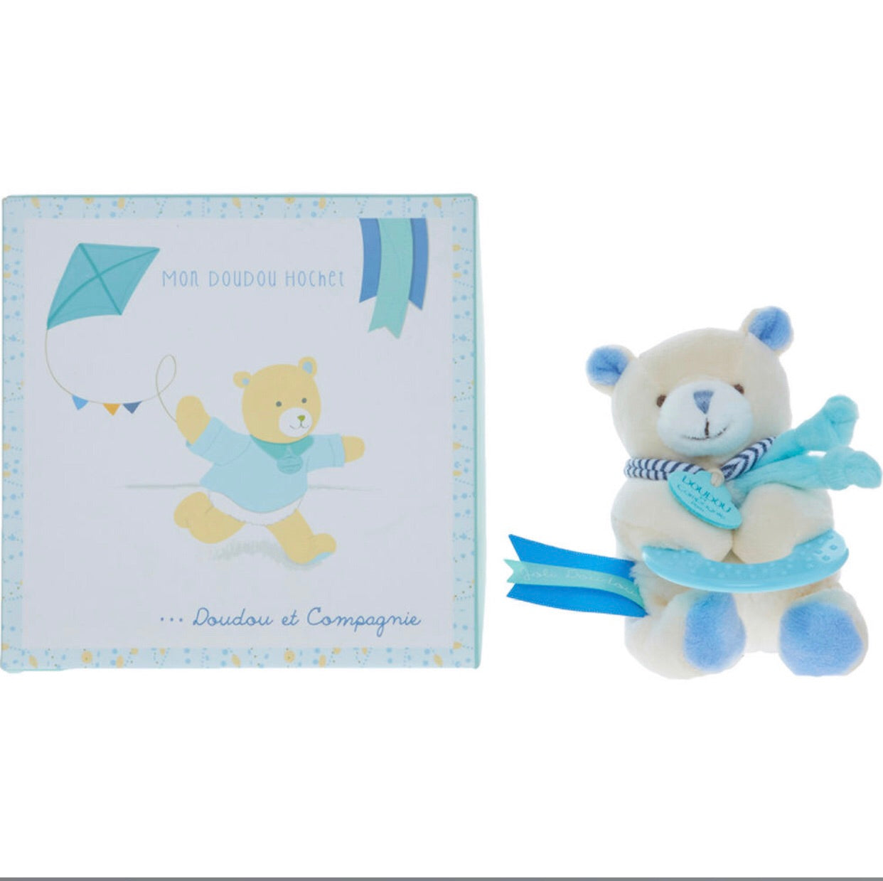 Doudou Hochet Bear Teether Toy