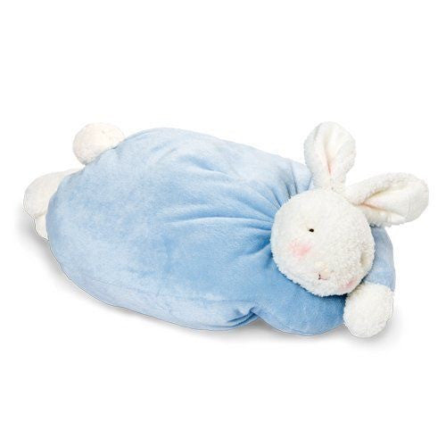 Plush Bunny Pillow Blue