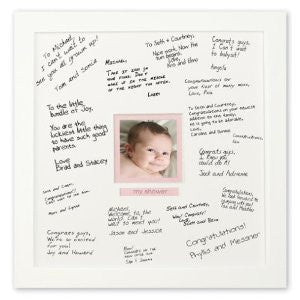 Baby Girl Deluxe Signature Frame White / Pink