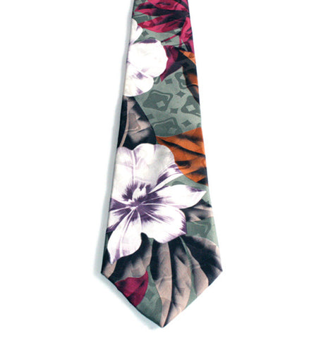 Johnny Carson Apparel Tie - Floral (Pre-Owned) - 015