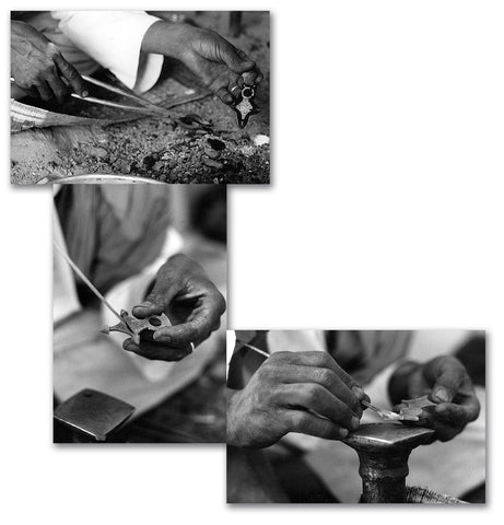 Tuareg silversmith at work