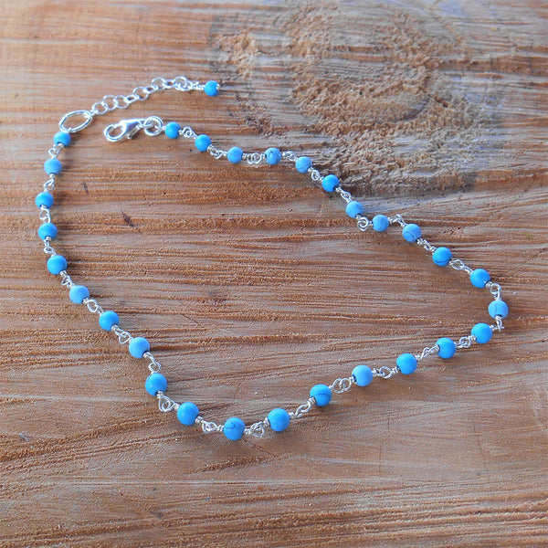 Blue Turquoise Anklet