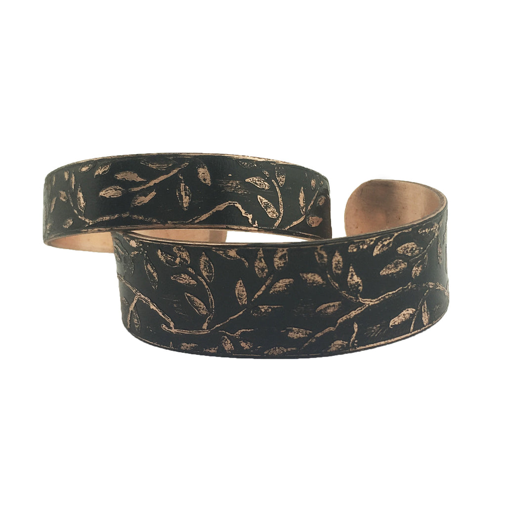 Etched Copper Cuff Bracelet - By E Artisan Jewelry