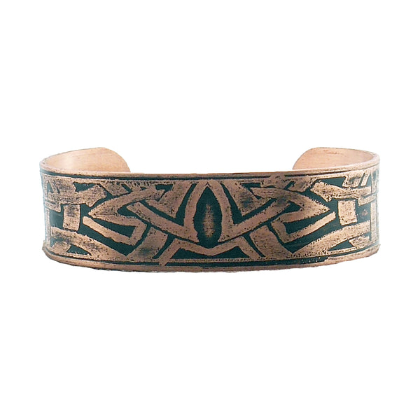 Men's Etched Copper 'Unity' Cuff Bracelet