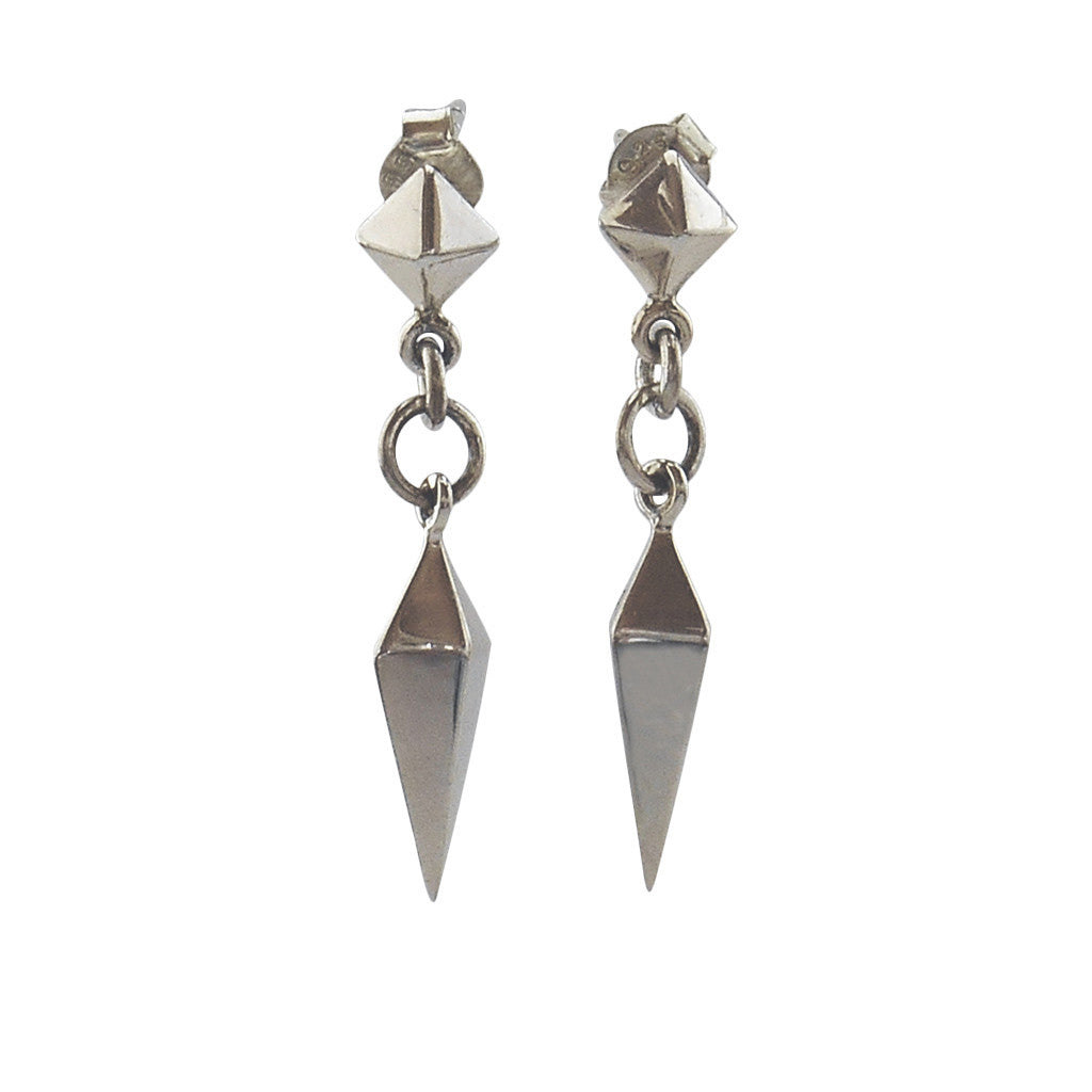 Spikes and Pyramids Earrings - By E Artisan Jewelry