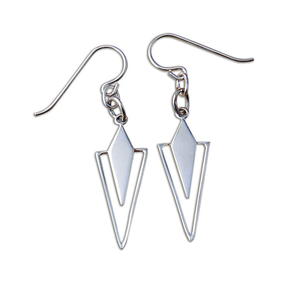 Sterling Silver Geometric Earrings - By E Artisan Jewelry