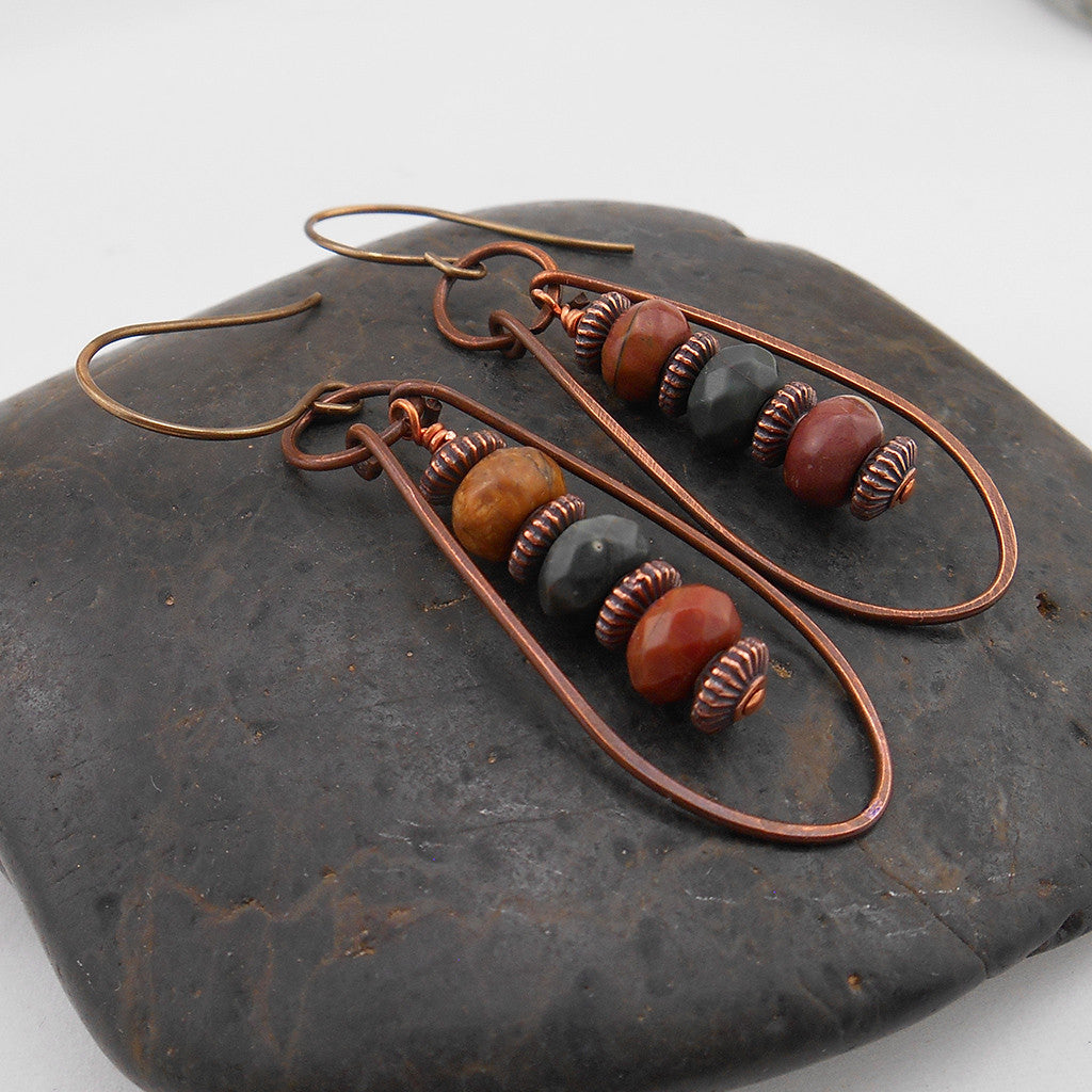 Circles and Loops Earrings - By E Artisan Jewelry