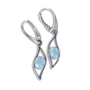 Sterling Silver and Larimar Earrings - By E Artisan Jewelry